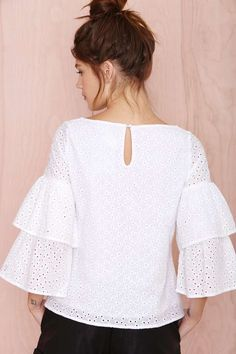 Nasty Gal Thread Lightly Top - Sale: 50% Off | Blouses | Tops | Tops
