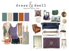 dress & dwell  feminine rustic boho