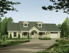 ePlans Country House Plan – Simplicity With Livability – 1365 Square Feet and 3 Bedrooms from ePlans – House Plan Code HWEPL76191