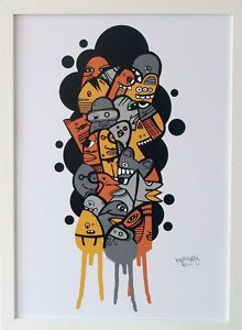 I am new to pintrest so don;t know how it works but I am pinning things that I really like (even if I have them) this is in our hall, it's so colourful. It's called 23 of my friends by Kev Munday & it's just amazing.