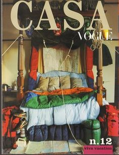4 poster / canopy bed with linenes in a range of bright colors and textures - fun - Casa Vogue 12 Bruce Weber Peter Lindbergh Tim Walker Philippe Starck | eBay