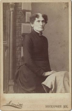 "c. 1888: Written on the back of the photo: ""Aunt Velma, she never married"""