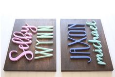 Custom Name Wood Sign  First & Middle Name  by TheTrendyTimber