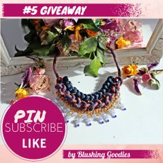 Giveaway by Blushing Goodies | Estilo Tendances | Subscribe Here until 30th of May ->  http://estilo-tendances.com/giveaway-5-signup