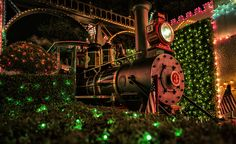 Disney Parks After Dark: Holidays at the Disneyland Resort Steam Away.  I love traveling this leg of DLR's track.