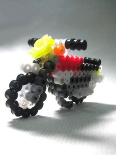 3D motorcycle Perler bead by Chien Long S.