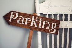 Wooden Wedding Parking Sign  Directional by SweetNCCollective, $25.00