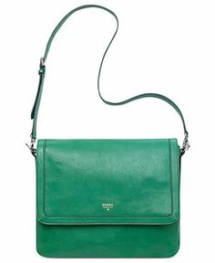 Fossil Handbag, Sydney Leather Flap Crossbody - Crossbody & Messenger Bags - Handbags & Accessories - Macy's