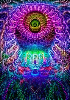 crossing spirals by Ezeg.deviantart.com on @DeviantArt #visionary fractal art; purples, mauve; pinks; blues;