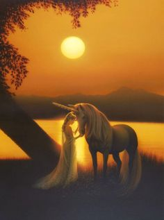 Moonlight on the Lake - Lady & Unicorn