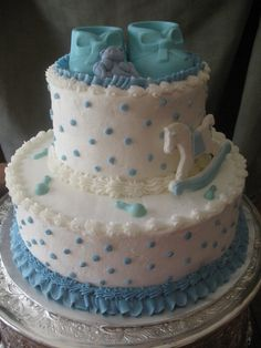 Buttercream Baby Shower Cakes | this baby shower cake was an almond butter cake with buttercream icing ...