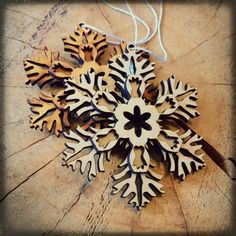 Wooden XMAS snowflake decoration Wooden Christmas Tree Decorations, Snowflake Decorations, Wood Texture, Xmas Tree, Christmas Time, Snowflakes, Create, Design, Christmas Tree