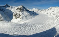 The Aletsch Glacier. This is the largest glacier in Europe.