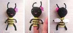 AmiguruBee   Easy tiny bee Petite abeille, tuto sur le blog Marionnette à doigt