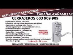 CERRAJEROS CABAÑAL CAÑAMELAR 603 909 909 VALENCIA
