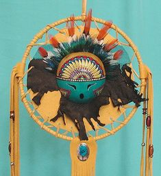 Cynthia Whitehawk - Apache  Face of Sun God  Kachina Mask Mandala
