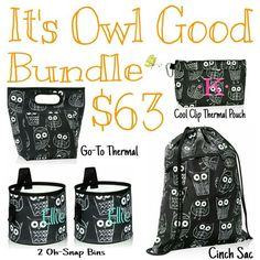 Thirty-One Gifts It's Owl Good Bundle! #ThirtyOneGifts #ThirtyOne #Monogramming…