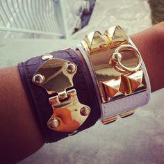 WWW.OVERLAVISH.NET  Hermes bracelet <3