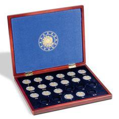 Colección monedas 2€ 30 Años bandera de Europa+ Estuche madera.