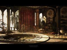 Oriental palace by ~Togman-Studio Digital Art / 3-Dimensional Art / Scenes / Interiors