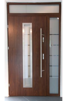 """""""Madrid"""" - Stainless Steel Exterior Door with Sidelights"""