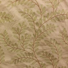 Sangla Teastain Floral Embroidered Drapery Fabric by P Kaufmann - SW54580 - Discount Fabrics
