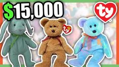 7fa6573dca4 5 SUPER RARE BEANIE BABIES WORTH MONEY - COLLECTIBLE RARE TOYS WORTH  MONEY!! -