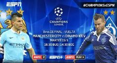 Manchester City vs Dynamo Kiev – Champions League Live Stream