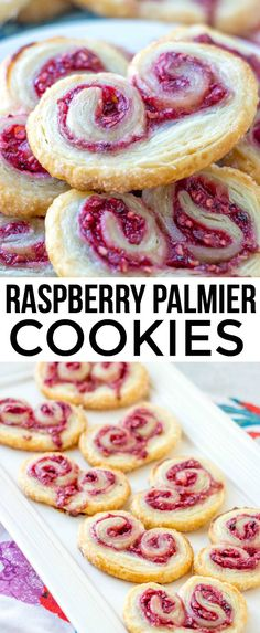 Raspberry Palmier Cookies – A Fun and Easy Cookie Recipe Delicious, easy and fun these Raspberry Palmiers are made with puff pasty, fresh raspberries and sugar and baked up until golden. Easy Cookie Recipes, Cookie Desserts, No Bake Desserts, Just Desserts, Baking Recipes, Sweet Recipes, Delicious Desserts, Easy Recipes, Delicious Cookies