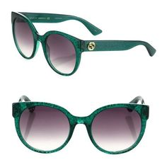 342f5598810a Gucci 54Mm Glitter Cat Eye Sunglasses ( 375) ❤ liked on Polyvore featuring  accessories