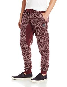 Southpole Men's Jogger Pants Fleece with All Over Aztec Prints and Drop Crotch Color Block, Marled Burgundy, Large Southpole http://www.amazon.com/dp/B014107EQW/ref=cm_sw_r_pi_dp_z.frwb1DAD9YZ