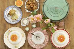 vintage breakfast table - Southern Weddings
