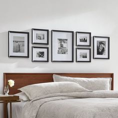 Contemporary wall frame decoration 3 piece set harry potter wall frames bedroom wall décor and art ideas multi photo frames collage 10 Ways To Display [. Gallery Wall Bedroom, Gallery Wall Layout, Gallery Wall Frames, Bedroom Wall, Bedroom Decor, Wall Frame Layout, Photo Wall Layout, Photo Layouts, Design Bedroom