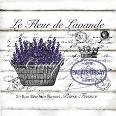 French Vintage Lavender Large A4 Instant Digital by CreatifBelle
