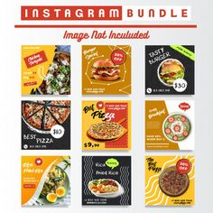 food Social media food posts bundle V - food Social Media Banner, Social Media Template, Social Media Design, Social Media Posts, Instagram Design, Food Instagram, Instagram Posts, Web Design, Food Design