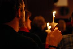 One of my favorite traditions is the Christmas Eve Candlelight Service at church.