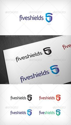 Five Shields  Logo Design Template Vector #logotype Download it here: http://graphicriver.net/item/five-shields-logo/1995165?s_rank=54?ref=nexion