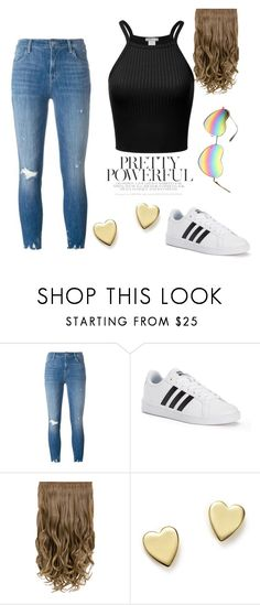 """""""Jeans and a black T-shirt"""" by lilyismyname-13 ❤ liked on Polyvore featuring J Brand, adidas, Bloomingdale's, contest, love, beautiful, fabulous and contestentry"""