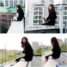 """Kim Sae Ron Overcomes Fear of Heights in New """"High School: Love On"""" Stills Korean Actresses, Korean Actors, Actors & Actresses, Nam Woo Hyun, Kim Sae Ron, Hi School Love On, High Shool, Dramas, Playful Kiss"""