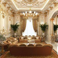 Interior design UAE Living room (With images) Home Room Design, Living Room Designs, House Design, Interior Design Gallery, Home Interior Design, Luxury Dining Room, Luxury Living, Luxury House Plans, Hall Design