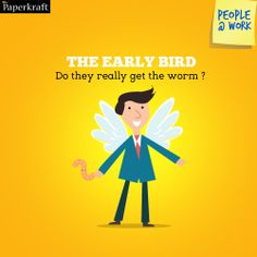 #Funny #Jobs #PeopleAtWork #Colleagues #work The Early Bird! Early to rise, early to....work?!