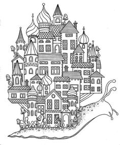 Snail Dream Home Coloring Page