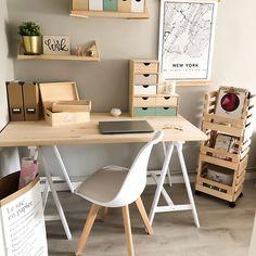 Study Room Decor, Cute Room Decor, Room Ideas Bedroom, Bedroom Decor, Home Office Design, Home Office Decor, Office Desk, Office Setup, Aesthetic Room Decor