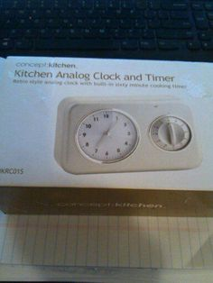 Concept:Kitchen ~ Kitchen Analog Clock and Timer ~ New in Box