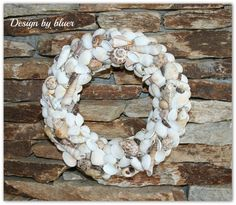 Nyári emlék - rusztikus kagylós ajtódísz - tengerparti stílusban , Dekoráció, Otthon, lakberendezés, Ünnepi dekoráció, Meska