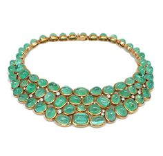 An Emerald and Diamond Necklace,  Suzanne Belperron