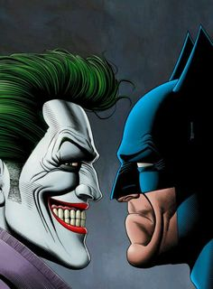 Yeah their are some great rivalries, Red Sox vs The Yankees, Giants vs Patriots, but the greatest rivalry ever, Joker and Batman. Art by Brian Bollard Joker Kunst, Batman Kunst, Batman Vs Superman, Batman Art, Batman Robin, Batman Arkham, Comic Books Art, Comic Art, Nananana Batman