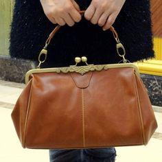 Women Retro Vintage Messenger Shoulder Purse Handbag Tote Bag Light Brown
