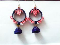 quilled paisley ear ring For more visit www.facebook.com/sakhifiligree