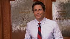 #ParksandRec Parks N Rec, Parks And Recreation, Chris Traeger, Camping Photo, Rob Lowe, Back Off, View Photos, Divorce, Watch